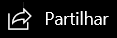 Ícone de partilha na barra de navegação principal.