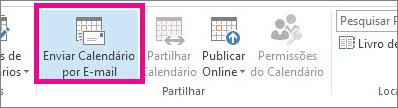 no separador base, clique em enviar calendário por e-mail
