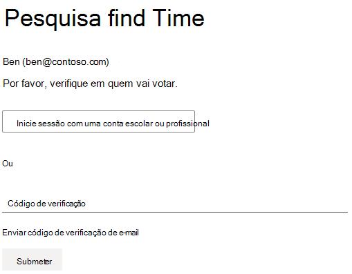 Exemplo de uma sondagem que o organizador exigiu a autenticação para votar.
