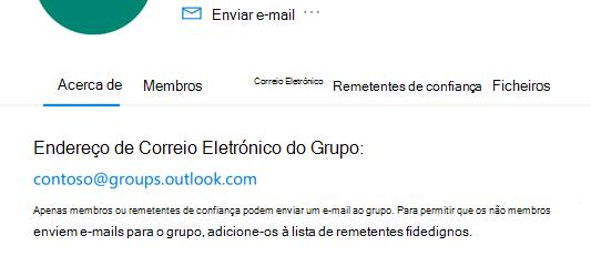 Adicione remetentes de confiança a um grupo Outlook.com.