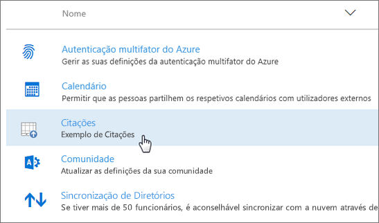 Suplemento implementado no centro de administração do Office 365