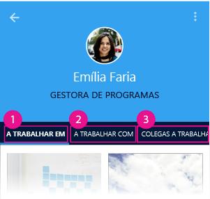 Página de pessoa do Delve para Android