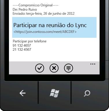 Participar em Reunião do Lync