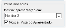 Opções de Monitor do PowerPoint 2010