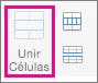 No separador Esquema, selecione Unir Células
