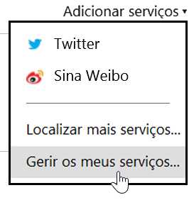 Gerir os meus serviços