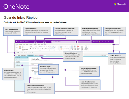 Guia de Introdução do OneNote 2016 (Windows)