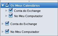 Grupo Os Meus Calendários do Outlook 2016 para Mac