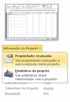 Imagem do menu Propriedades do Ficheiro.