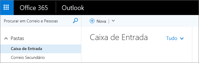 Uma imagem do aspeto do friso no Outlook na Web.