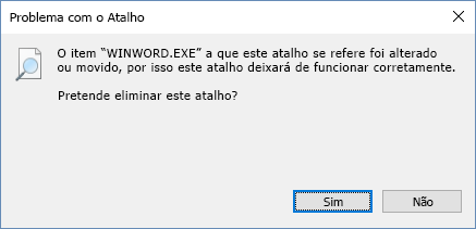 Captura de ecrã da caixa de diálogo