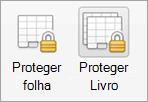 Botões de proteção por palavra-passe