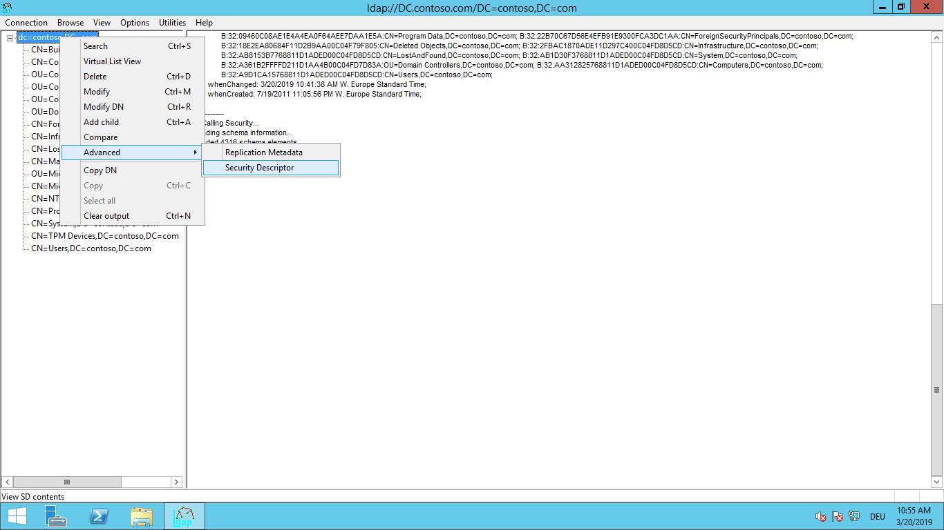 Listas de controlo de acesso de domínio