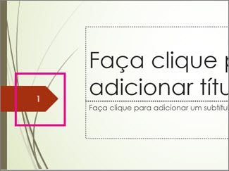 Tema Haste com número de diapositivo