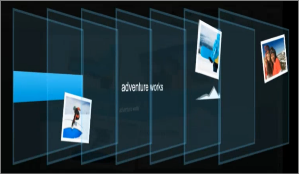 Apresentação de camada de diapositivo