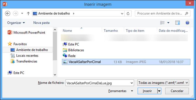 Caixa de diálogo Inserir Imagem
