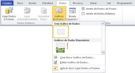 Seleccione Sem Gráfico de Dados para remover um gráfico de dados da forma.