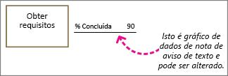 Forma com gráfico de dados de texto de chamada, etiqueta de texto: Isto pode ser alterado