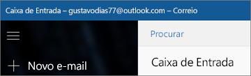 O aspeto do friso se tiver a aplicação Correio para Windows 10.