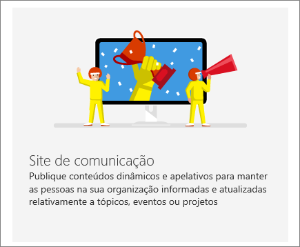 Site de comunicações do SharePoint do Office 365