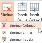 Eliminar colunas ou linhas
