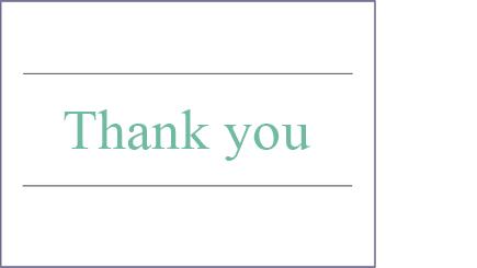 Imagem conceptual de uma nota de agradecimento