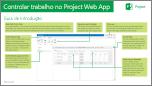 Monitorizar o Trabalho no Guia de Introdução do Project Web App