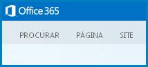 Captura de ecrã dos separadores predefinidos para personalizar um Web site Público no SharePoint Online