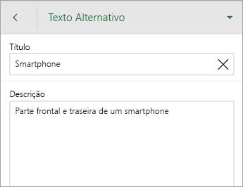 Comando Texto Alternativo no separador Imagem