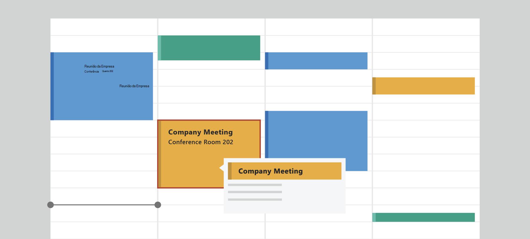 Mostra o Calendário do Outlook