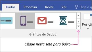 Separador Dados, botão Galeria Gráfico de Dados