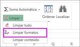 utilize o botão limpar formato para remover a formatação