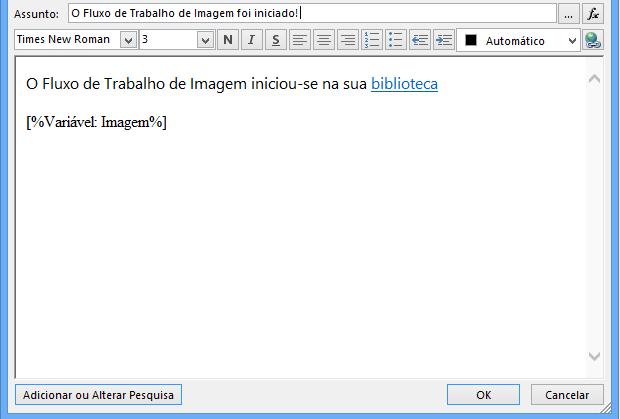 Corpo de Mensagem de E-mail do Fluxo de Trabalho com Imagem