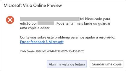 Mensagem para ficheiro bloqueado