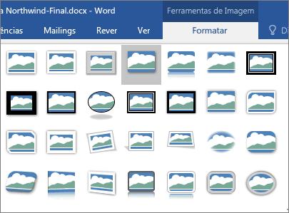 As opções de limites de imagens são apresentadas.