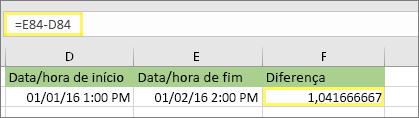 =E84-D84 e resultado de 1.041666667