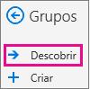 Descobrir o botão no painel de navegação no Outlook na web