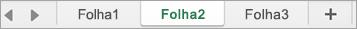 Separadores de folha no Excel