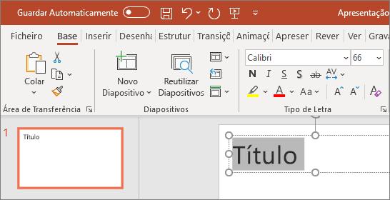 Formatar texto no PowerPoint