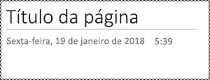 Mudar o nome da página no OneNote para a Web