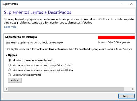Desativar os suplementos do Outlook