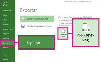 Imagem do botão Criar PDF/XPS