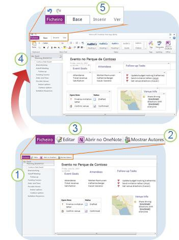 Síntese do OneNote Web App