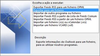 Exportar ficheiro