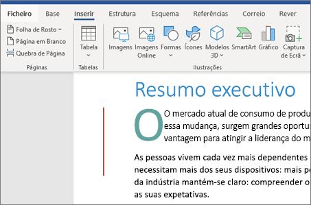 Imagens e Gráficos SmartArt no Word do Office 365