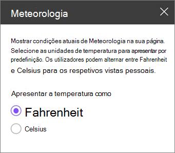 Painel de painel de meteorologia