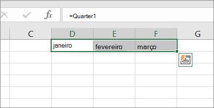 Exemplo de uma constante de matriz sem chaves