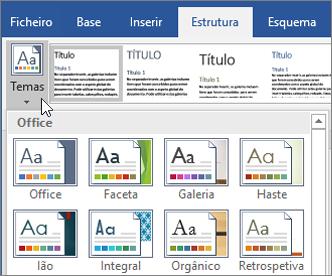 Temas do Word no Office 365