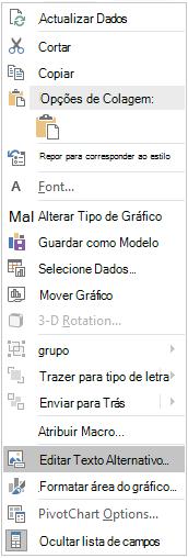 Excel Win32 Edit Alt Text menu para pivôCharts