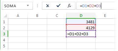Uma fórmula que originará uma referência circular